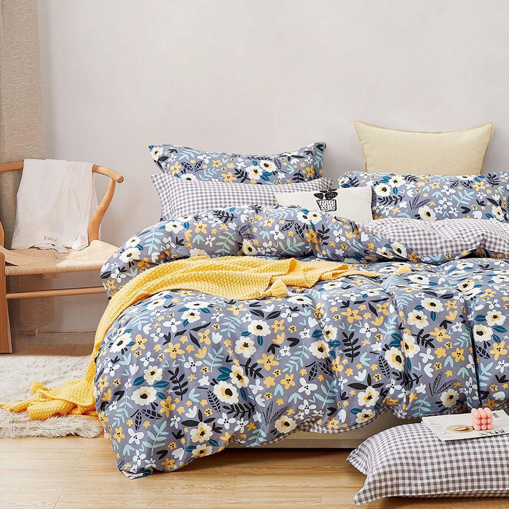 Ardor Aimee Multi Double Bed Quilt Cover Set   My Linen