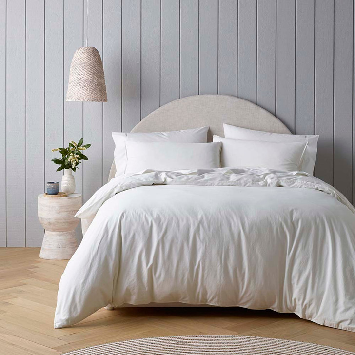 Bianca Riviera White King Bed Quilt Cover Set   My Linen