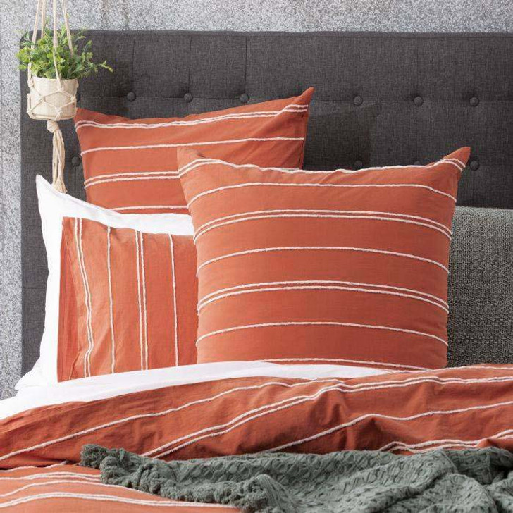 Renee Taylor Hudson Paprika European Pillowcase | My Linen