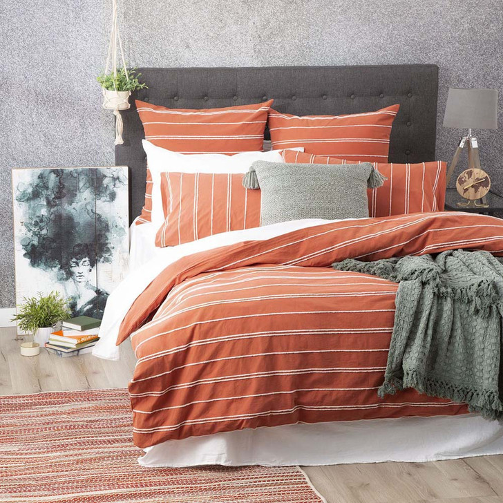 Renee Taylor Hudson Paprika Double Bed Quilt Cover Set | My Linen