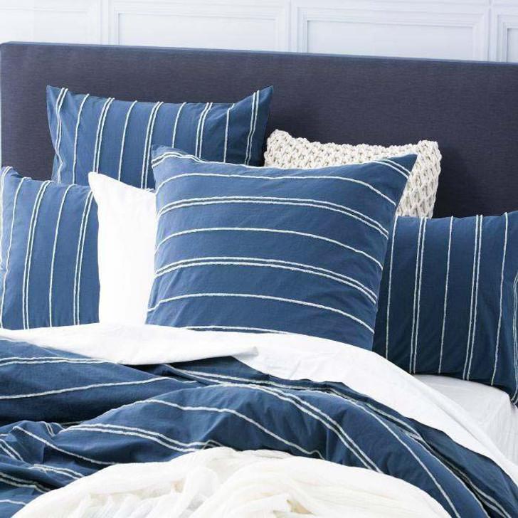 Renee Taylor Hudson Blue European Pillowcase | My Linen