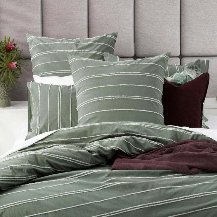 Renee Taylor Hudson Sage European Pillowcase | My Linen