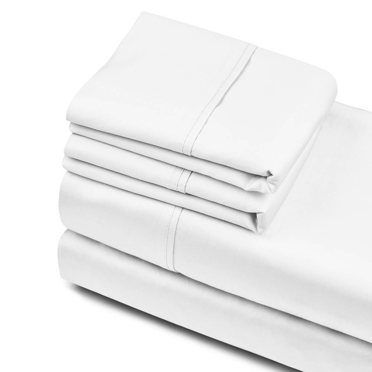 Private Collection 750TC Cotton Sateen King Sheet Set White   My Linen