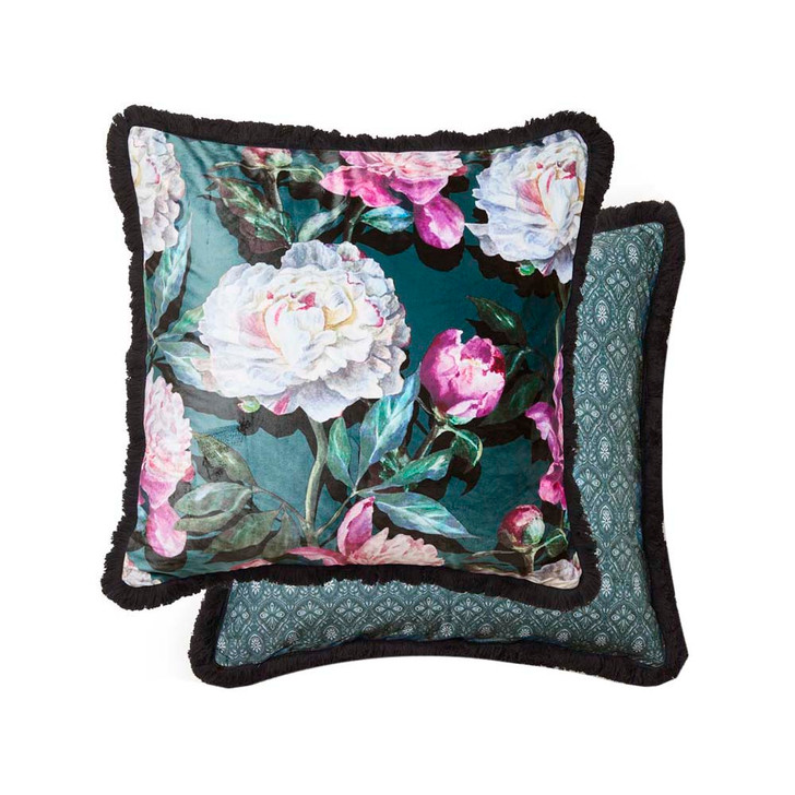 Platinum Logan and Mason Elsa Jewel Square Filled Cushion | My Linen