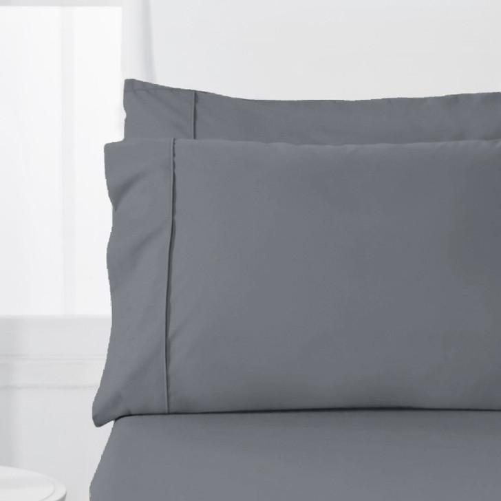 Jenny Mclean Abrazo Flannelette Charcoal Standard Pillowcases | My Linen