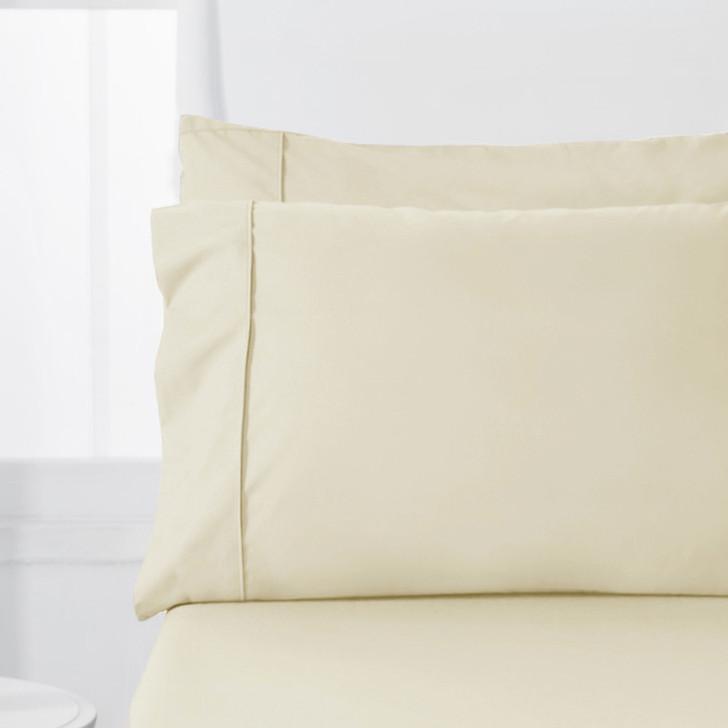 Jenny Mclean Abrazo Flannelette Ivory Standard Pillowcases | My Linen