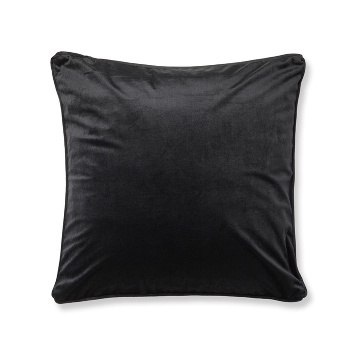 Logan and Mason Amelia Black Square Filled Cushion | My Linen