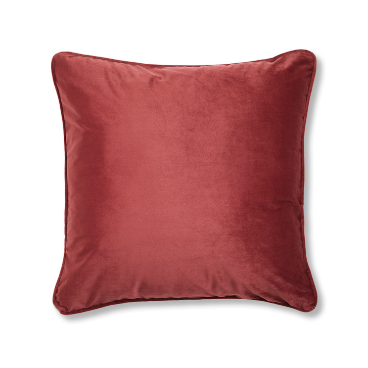 Logan and Mason Amelia Burgundy Square Filled Cushion   My Linen
