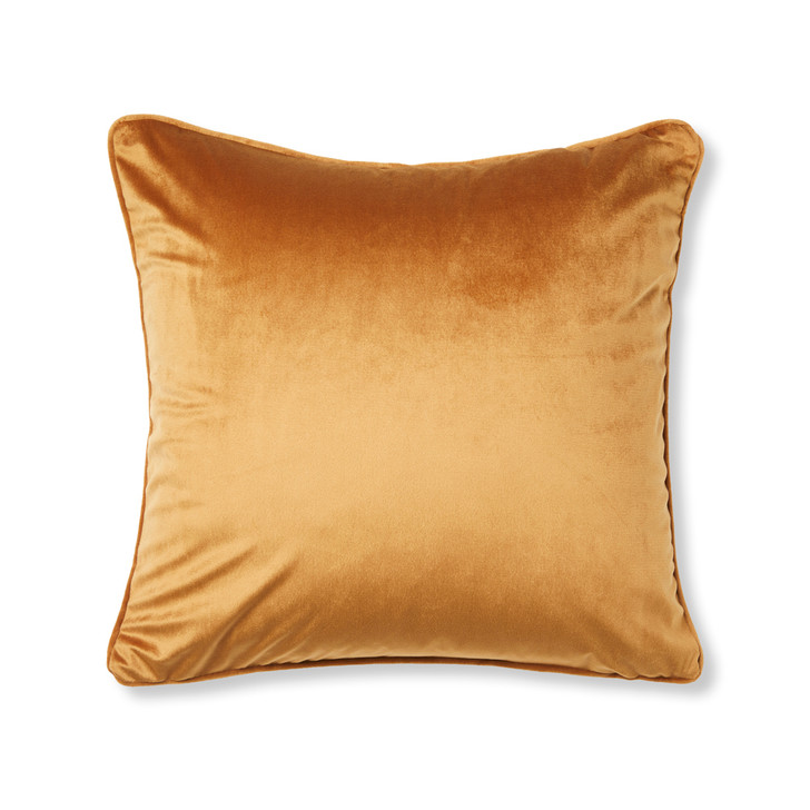 Logan and Mason Amelia Toffee Square Filled Cushion   My Linen