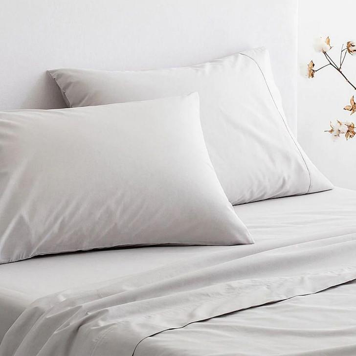 Sheridan 300TC Classic Percale Organic Cotton Dove Standard Pillowcase Pair   My Linen