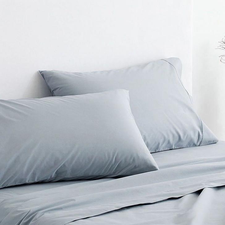 Sheridan 300TC Classic Percale Organic Cotton River Standard Pillowcase Pair | My Linen