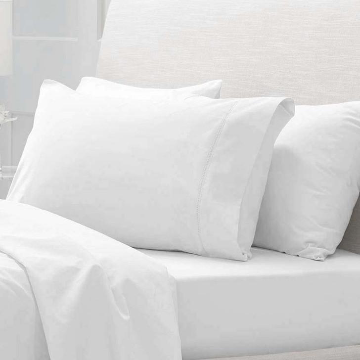 Sheridan 300TC Classic Percale Organic Cotton Snow King Pillowcase Pair | My Linen