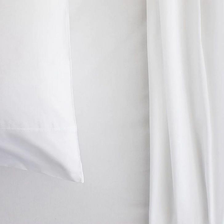 Sheridan 300TC Classic Percale Organic Cotton Snow Single Sheet Set | My Linen