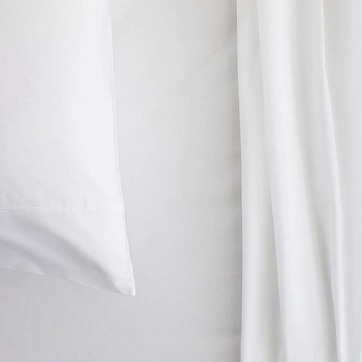 Sheridan 300TC Classic Percale Organic Cotton Snow Long Single Sheet Set   My Linen