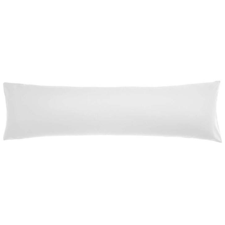 Logan and Mason 300TC Cotton Percale White Body Pillowcase | My Linen