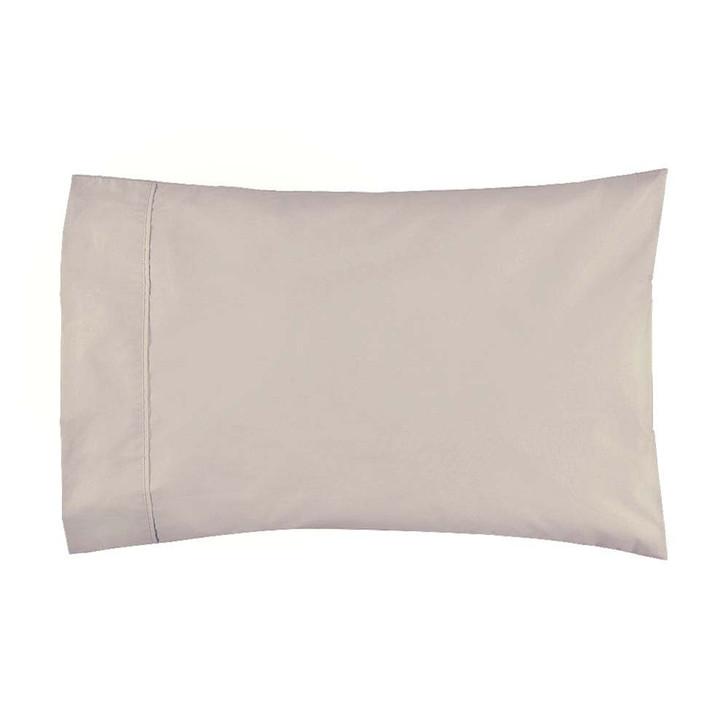 Logan and Mason 300TC Cotton Percale Stone Standard Pillowcase | My Linen