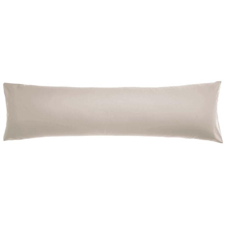 Logan and Mason 300TC Cotton Percale Stone Body Pillowcase   My Linen