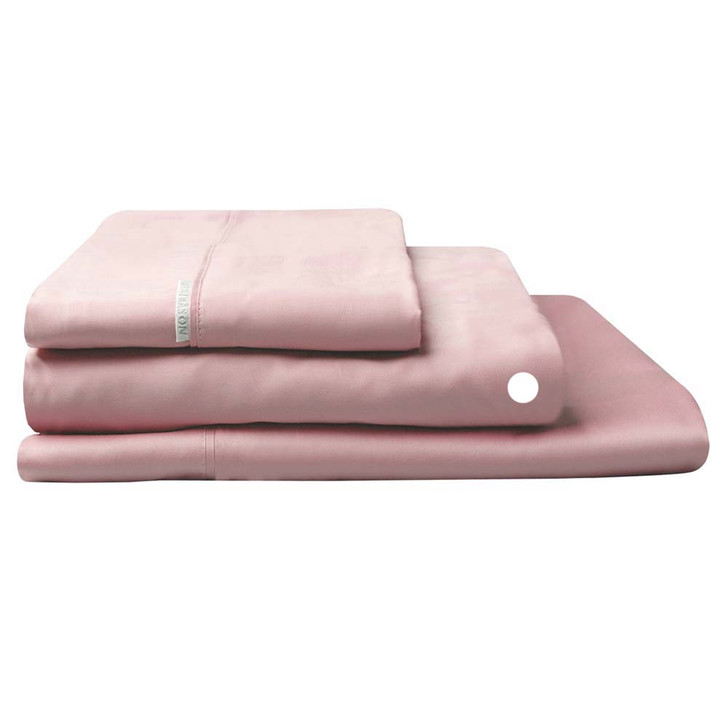 Logan and Mason 300TC Cotton Percale Single Bed Long Fitted Sheet Dusk   My Linen