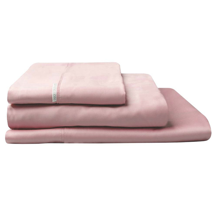 Logan and Mason 300TC Cotton Percale King Bed Sheet Set Dusk | My Linen