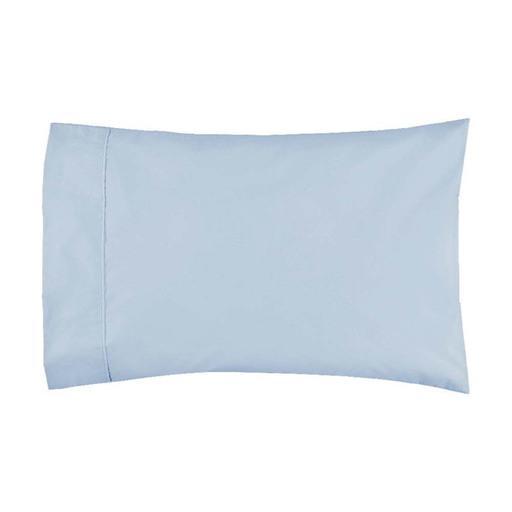 Logan and Mason 300TC Cotton Percale Denim Standard Pillowcase | My Linen