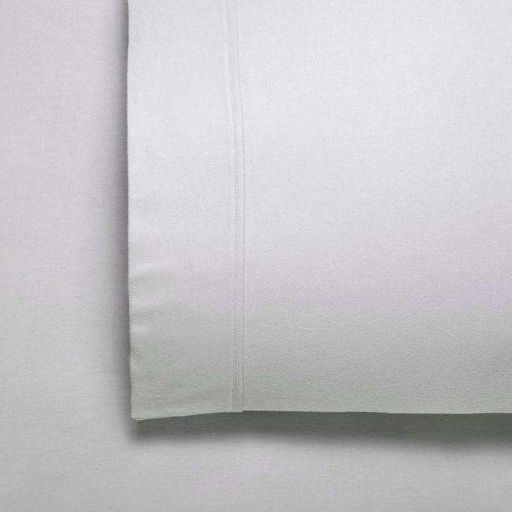 Bianca Fletcher Flannelette Super King 50cm Bed Sheet Set Silver   My Linen