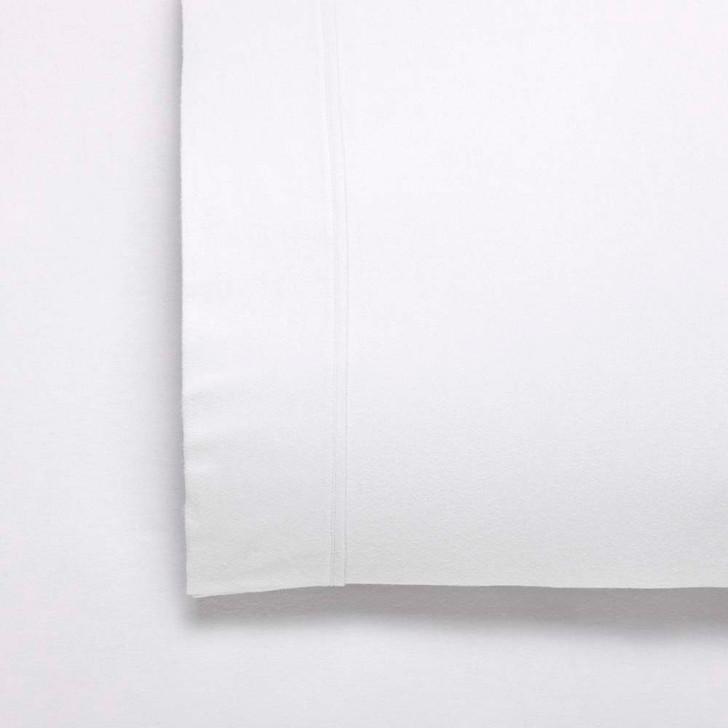 Bianca Fletcher Flannelette Split King 50cm Bed Sheet Set White   My Linen