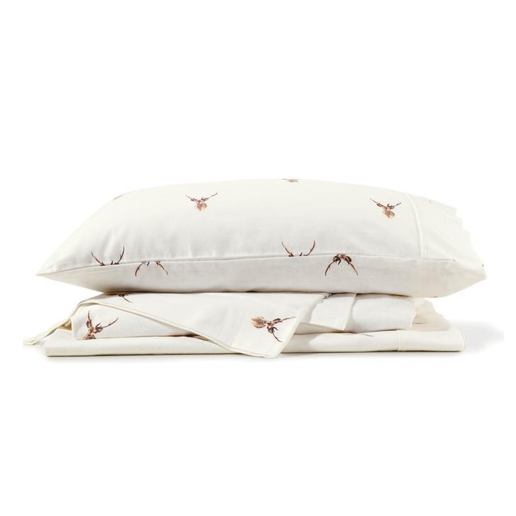 Bianca Stag Flannelette Double 50cm Bed Sheet Set | My Linen