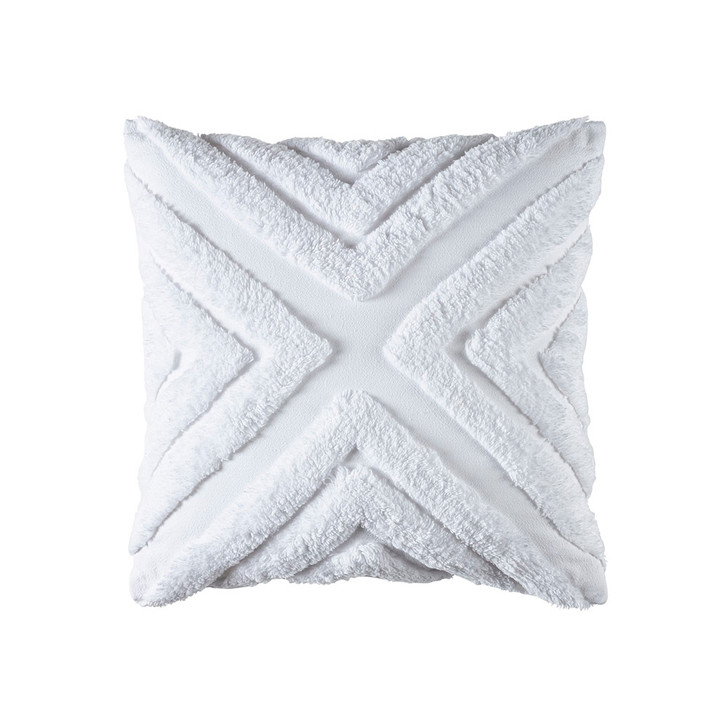 Bianca Haven White Square Filled Cushion | My Linen