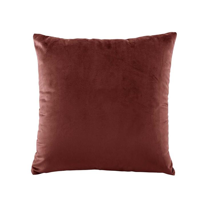 Bianca Vivid Terracotta Velvet Square Filled Cushion | My Linen