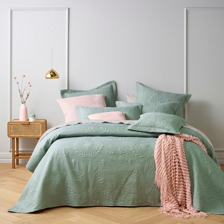 Bianca Florida Sage Super King Bedspread Set | My Linen