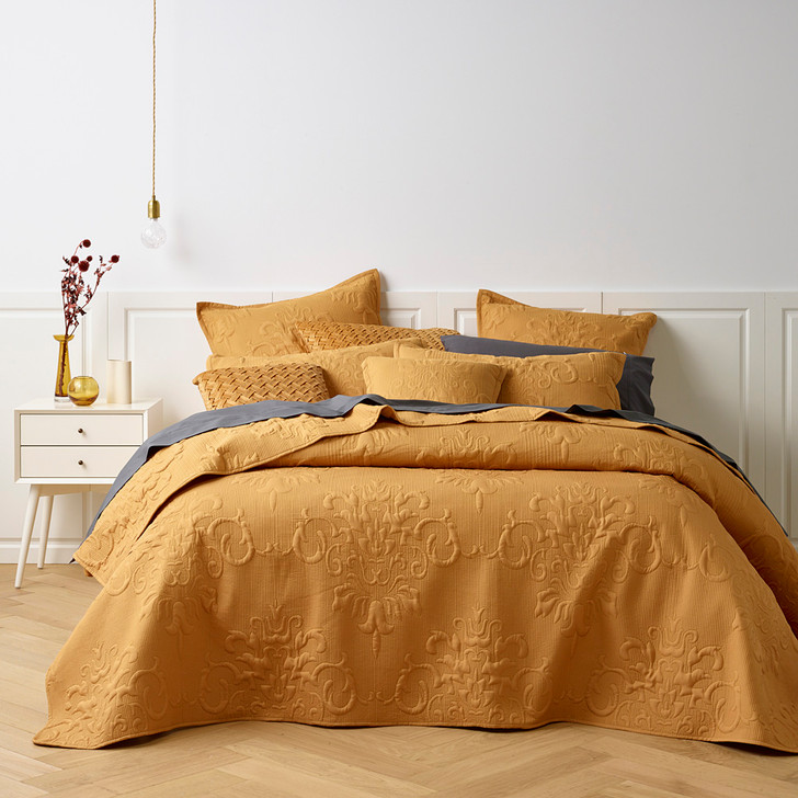 Bianca Gatwick Gold Double Bed Bedspread Set | My Linen