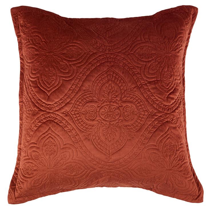 Bianca Dynasty Terracotta European Pillowcase | My Linen