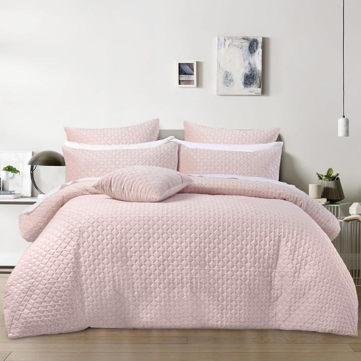 Bianca Alden Blush King Bed Quilt Cover Set   My Linen