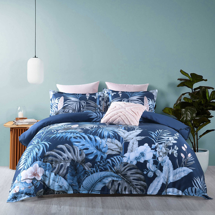 Bianca Kailua Indigo Double Bed Quilt Cover Set   My Linen