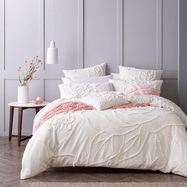 Bianca Maisha Coconut Milk King Bed Quilt Cover Set   My Linen