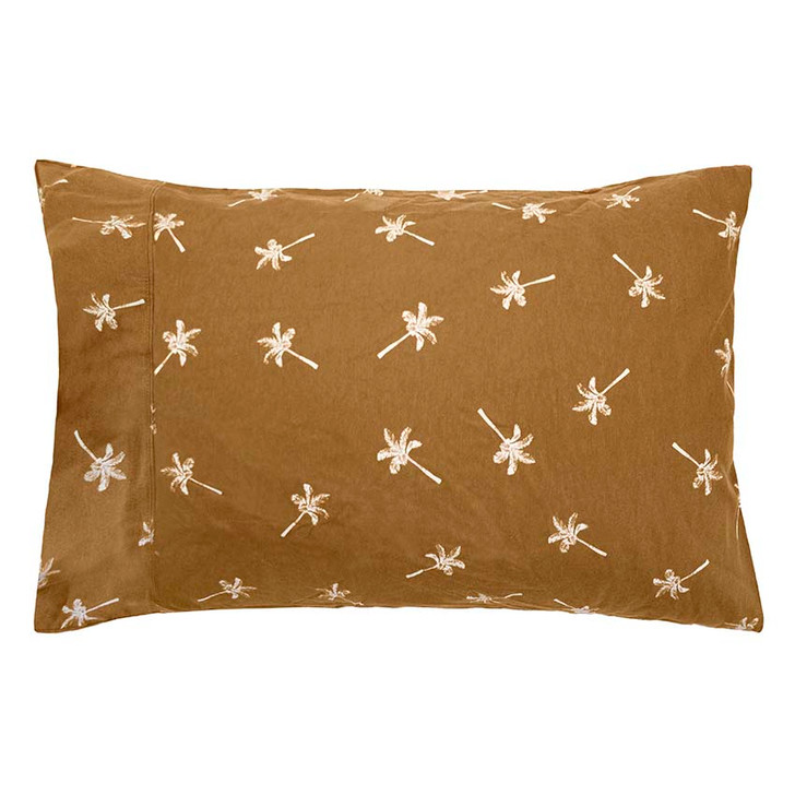 Bambury Cocos Tobacco Flannelette Double Bed Sheet Set PC   My Linen