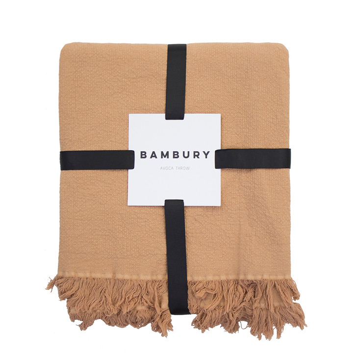 Bambury Avoca Bisque Throw | My Linen