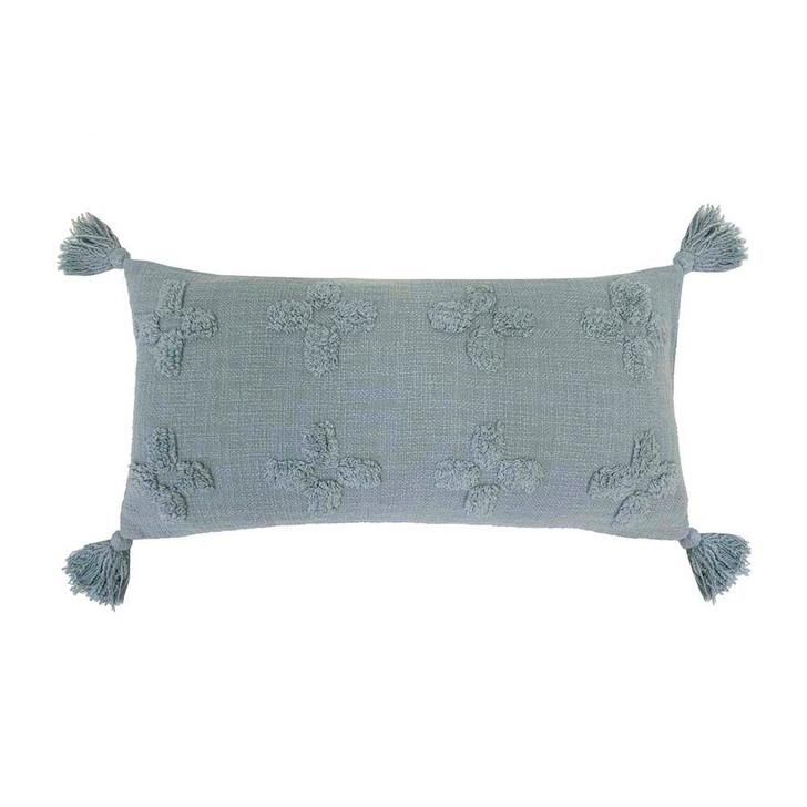 Bambury Ada Steel Blue Throw Spread Out | My Linen