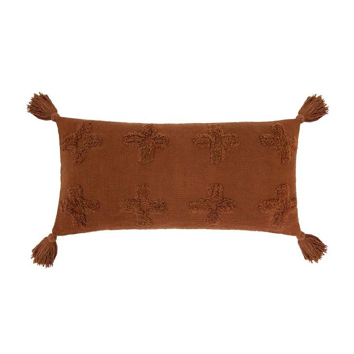 Bambury Ada Chilli Long Filled Cushion   My Linen