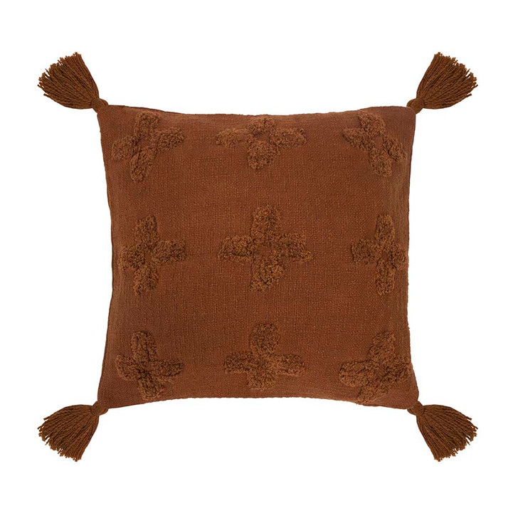 Bambury Ada Chilli Square Filled Cushion   My Linen