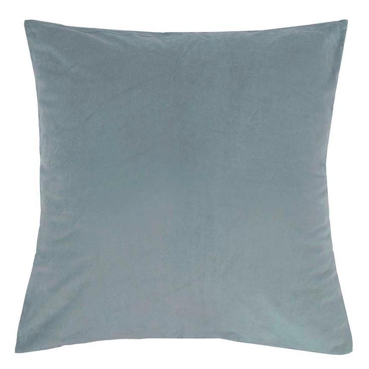 Bambury Velvet Steel Blue European Pillowcase | My Linen