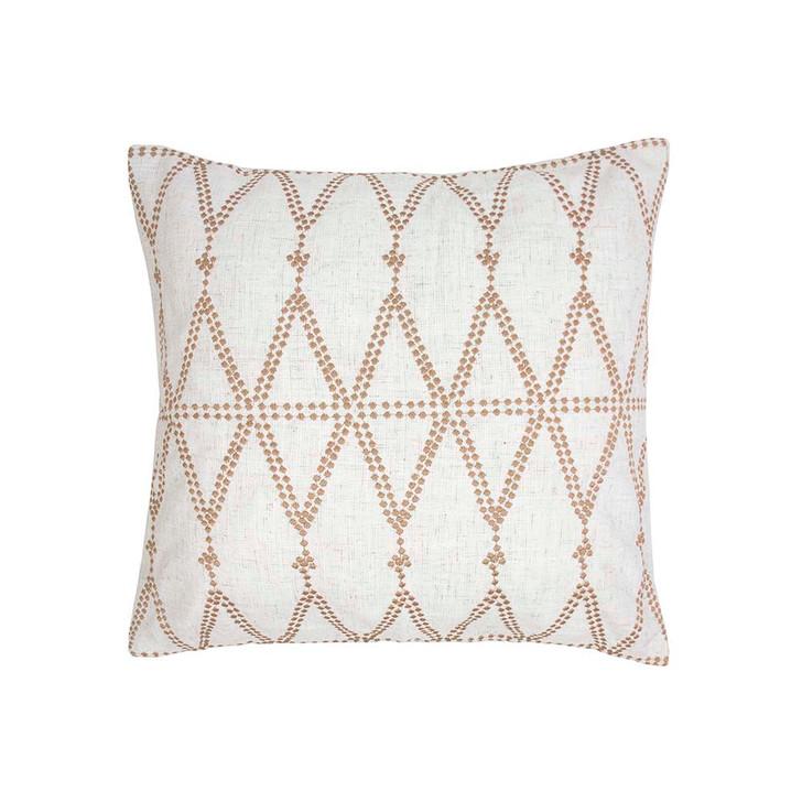 Bambury Mooki Butterscotch Square Filled Cushion   My Linen