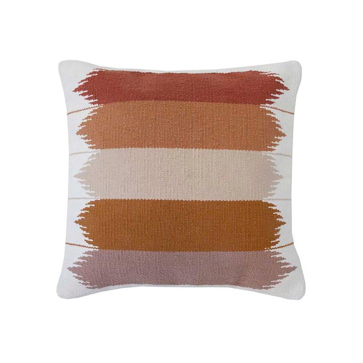 Bambury Barwon Ivory Square Filled Cushion   My Linen