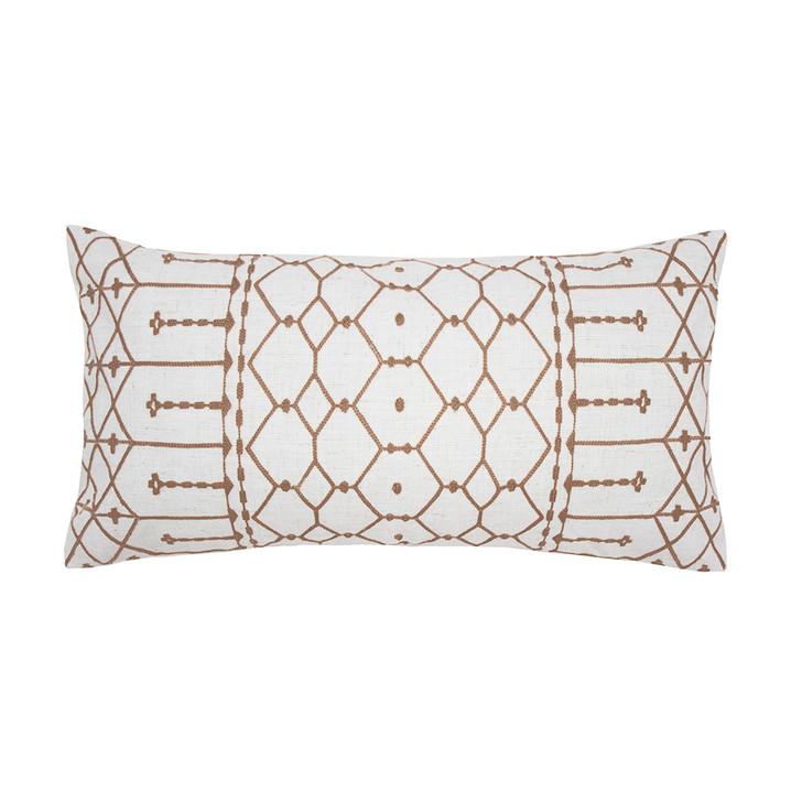 Bambury Gilbert Butterscotch Long Filled Cushion | My Linen