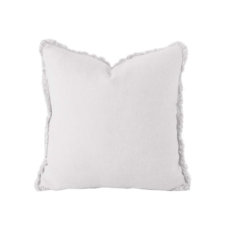 Bambury 100% Linen Silver Square Filled Cushion | My Linen