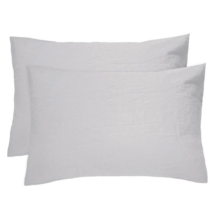 Bambury 100% Linen Silver Standard Pillowcases | My Linen