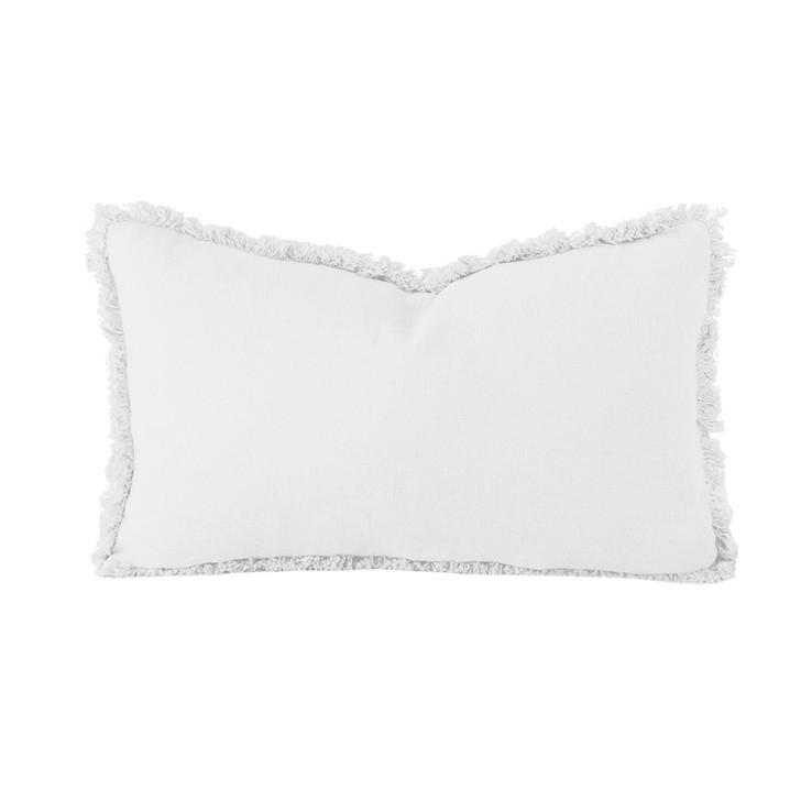 Bambury 100% Linen Ivory White Long Filled Cushion | My Linen