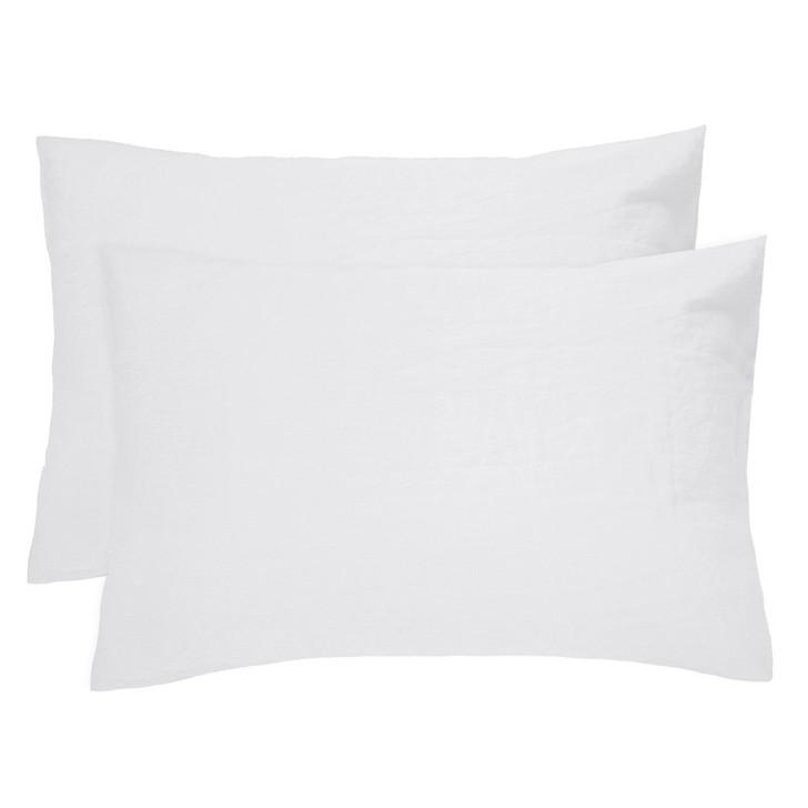 Bambury 100% Linen Ivory White Standard Pillowcases | My Linen