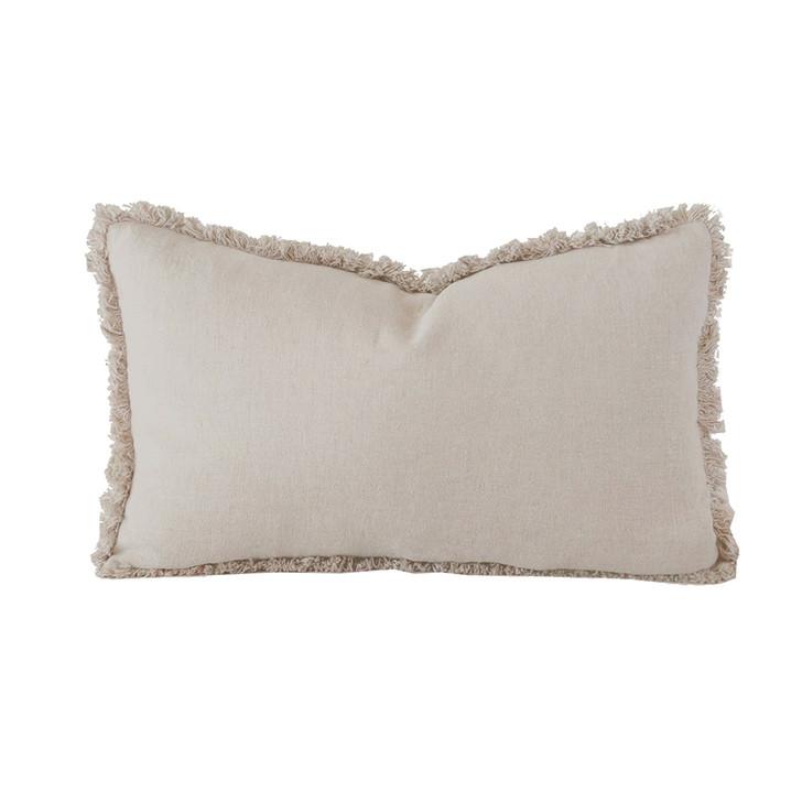 Bambury 100% Linen Pebble Long Filled Cushion   My Linen