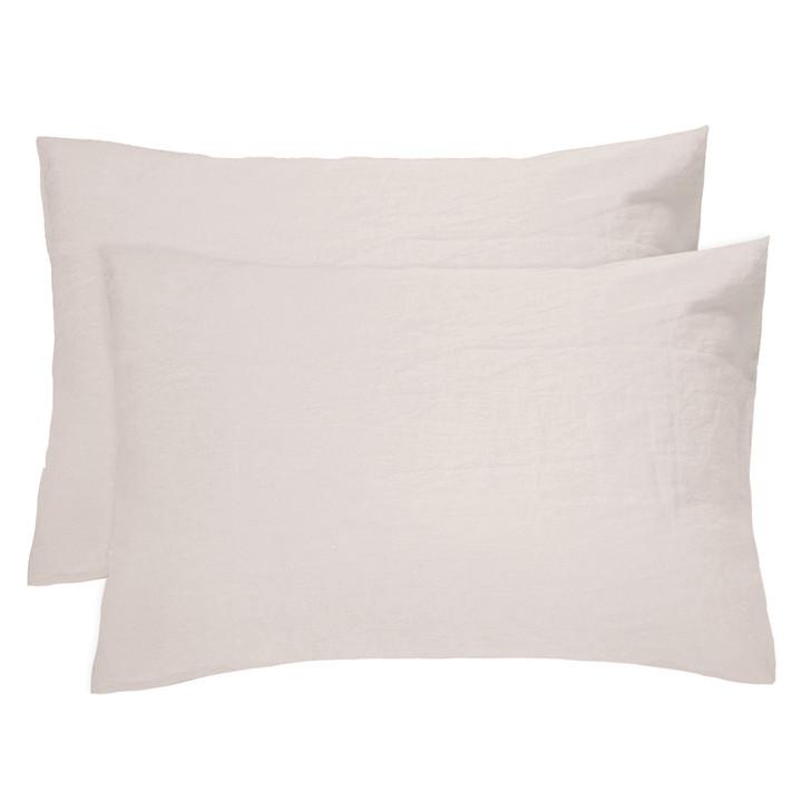 Bambury 100% Linen Pebble Standard Pillowcases | My Linen